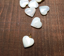 Vintage Mother of Pearl Heart Charm