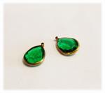 Vintage Emerald Lucite Pear Drops