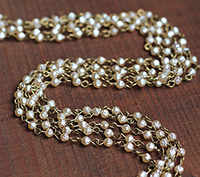 4mm Baroque Pearl Chain