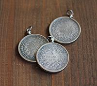 5 Francs Coin Pendant - Silver
