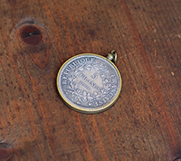 5 Francs Coin Pendant - Brass