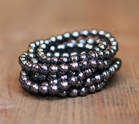 Haskell 6mm Black Baroque Pearls