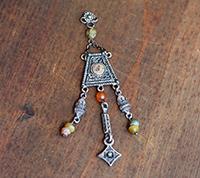 Afghan Tassel Pendant, Diamond