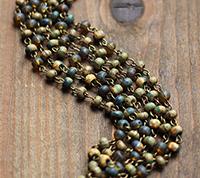 Aged Seed Bead Chain