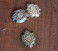 Antique Heraldic Stamping, Silver