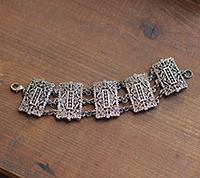 Antique Cast Link Bracelet
