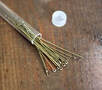Antique Brass Eyepins Extra Long