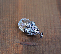 Bloom Crystal Pendant - Silver
