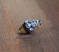 Bloom Gemstone Pendant - Silver