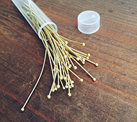 Brass Ball Headpins