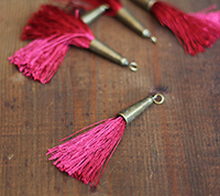Brass Capped Tassel - Brick Red
