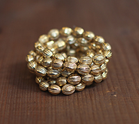 Brass Plated Vintage Beads