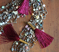 Brass Capped Tassel - Wine