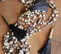 Brass Capped Tassel - Black