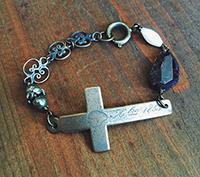 Bronze Nun's Cross Bracelet