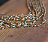 Capped Rosary Sequence - Topaz Luster