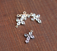 Chunky Prongset Rhinestone Cross