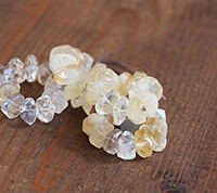 Hand Faceted Citrine Rondelles