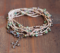 Crocheted Necklace Copper Picasso