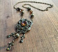 1920s Czech Glass Necklace