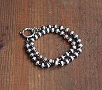 Double Wrap Ball Chain Bracelet