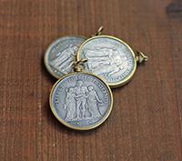 Liberté Egalité Coin Pendant - brass
