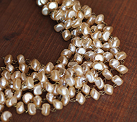 Vintage Ellipse Pearl Chain