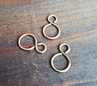 Brass Figure Eight Connector