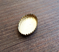 Solid Brass Filigree Bezel - 18x25mm