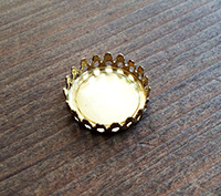 Solid Brass Filigree Bezel - 18mm