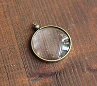 Bezeled Glass Pendant