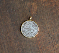 5 Francs Coin Pendant - Gold