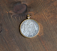 French Empire Coin Pendant - Gold