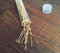 Gold Plated Eyepins
