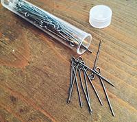 Gunmetal Plated Eyepins