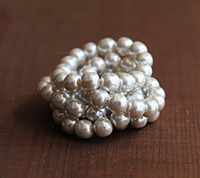 10mm Haskell Pale Silver Baroque Pearl