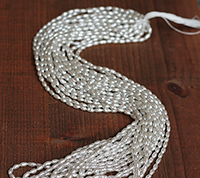 Haskell Silver Rice Pearls Master Strand