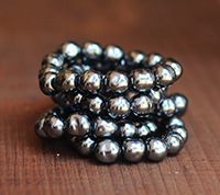 10mm Haskell Charcoal Baroque