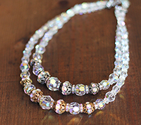 Vintage Multi-Strand Crystal Necklace