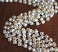 Large Barrel Baroque Pearl Chain