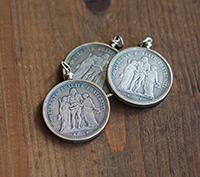 Liberté Egalité Coin Pendant - silver