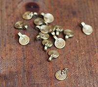 Thai Brass Spiral Charm, Large