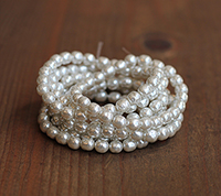 Haskell 6mm Silver Pearls