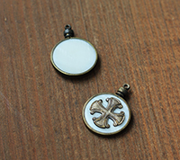 Mother of Pearl Coptic Cross Pendant