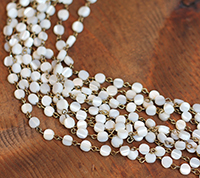 Mother of Pearl Coin Chain