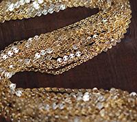 Vintage Matte Gold Coin Chain
