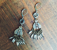 Bronze Mercury Earrings