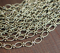 Vintage Oval & Barbell Chain