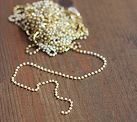 Pearl Cup Chain, 2mm