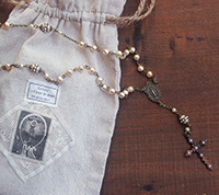Fille de Ciel Pearl Rosary Kit